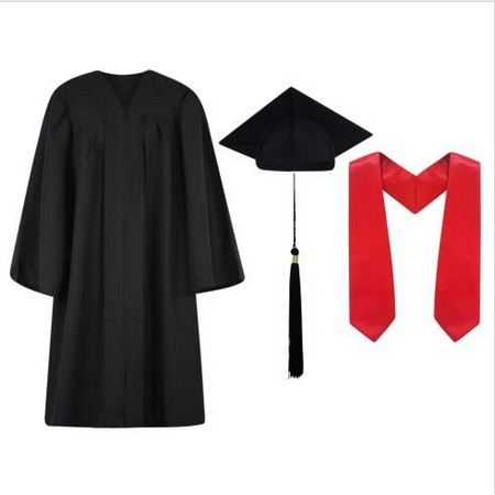 Cap, Gown,Tassel and Stole Set Matte
