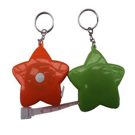 Colorful Star Keychain With Tape Measure