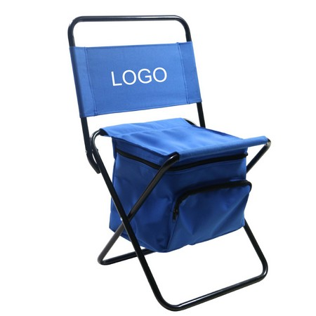 Foldable Chair With Cooler Bag