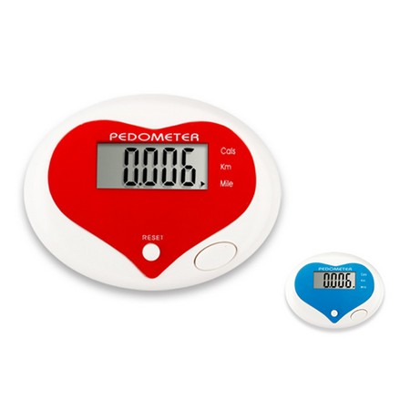 Heart Shape Digital Pedometer