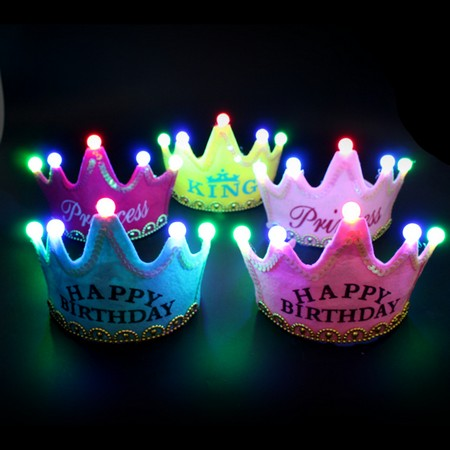 LED Birthday Party Crown Hats