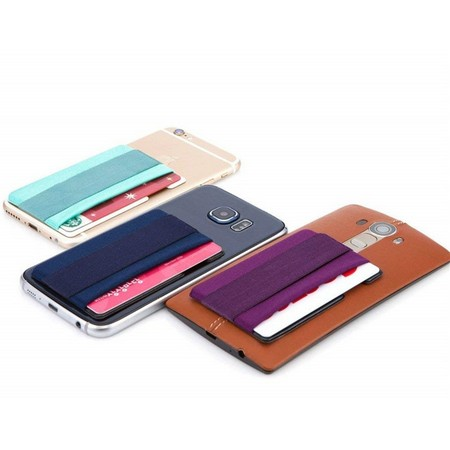 Lycra Cell Phone Card Holder With Elastic Spandex Band