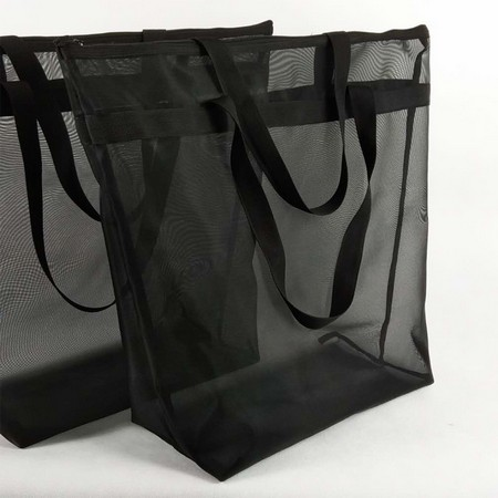 Nylon Mesh Tote Bag With Zipper