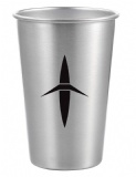 16 Oz Growl Stainless Pint Glass