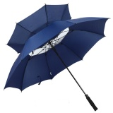 Automatic Open Golf Umbrella Oversize Double Canopy Vented Windproof Waterproof Stick Umbrellas