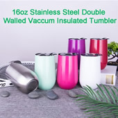 16oz Stemless Vacuum Insulated Wine Cup