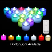 24Pcs Color Changing LED Candle with Remote Control