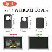 3 Pack Webcam Camera Sliding Cover