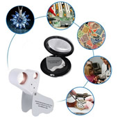 30X 60X Dual Lens LED Illuminated Mini Jewelry Magnifier