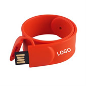 4 GB Silicone Slap Bracelet USB Flash Drive