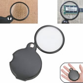 5x Folding Magnifying Glass with Rotatable Leather Pouch