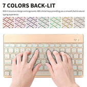 7 Colors Backlight Chargeable Keyboard