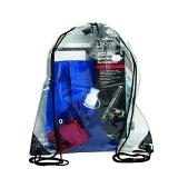 Transparent PVC Waterproof Drawstring Bag
