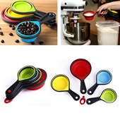8 PCS Collapsible Measuring Cups and Spoons