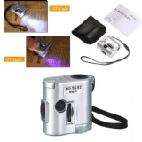 60X Pocket Microscope with LED UV Light