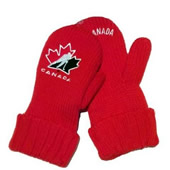 Acrylic Knit Mittens With Fleece Lining
