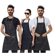 Adjustable Bibbed Denim Apron