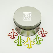 Airplane Paper Clips In Tin Box
