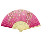 Bamboo Frame Fabric Folding Fan