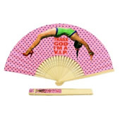 Bamboo Frame Paper Folding Fan
