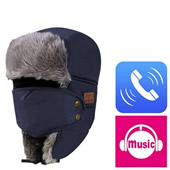 Bluetooth Winter Skating Beanie with Knitted Mask
