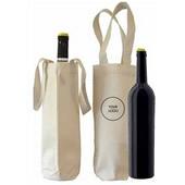Canvas Single Wine Bag