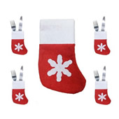 Christmas Socks Cutlery Bag