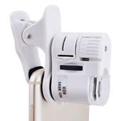 Clip-on Cellphone 60x LED Microscope
