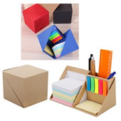 Cube Shaped Sticky Note with Pen Holder