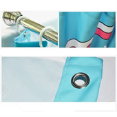 Custom Waterproof Polyester Fabric Shower Curtain