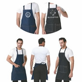 Denim Work Apron with Pockets