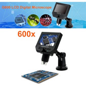Digital 1-600X Microscope with 3.6MP Camera 4.3in HD LCD