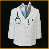 Doctor Coat Shape Pen Pencil Holder