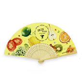 Double Sides Paper Folding Fan
