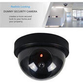 Dummy Security CCTV Camera with Flashing Red Light