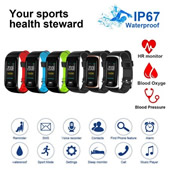 Fitness Tracker Activity Watch and HR/Blood Pressure Monitor
