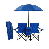 Foldable Beach Chair Set