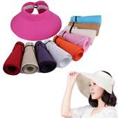 Foldable Beach Wide Brim Straw Visor Hat
