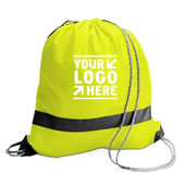 Hig-Vis Reflective Drawstring Bag