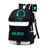 Luminous USB Charging Backpack