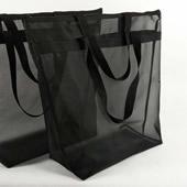 Nylon Mesh Tote Bag With Zipper