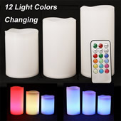 Pack of 3 Remote Control LED Candles