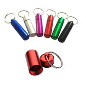 Pill Case With Keychain/Pillbox Keytag