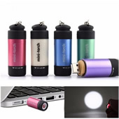 Rechargeable USB Flashlight Keychain