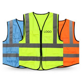 Reflective Overalls Vest With Pocket
