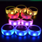 Remote Control Wireless Color Changing LED Bracelets