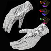 Sequined LED Gloves