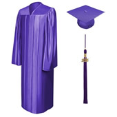 Shiny Finish College And University Graduation Cap, Gown & Tassel