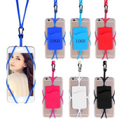 Silicone Phone Wallet With Lanyard