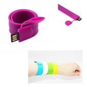 Slap wristband USB flash drive